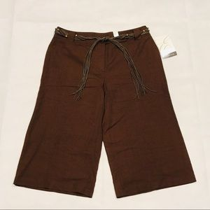 NWT Emma James Brown Cropped Pants 10